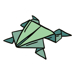 Origami frog illustration