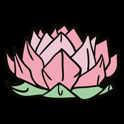 Ilustración de flor de loto de origami