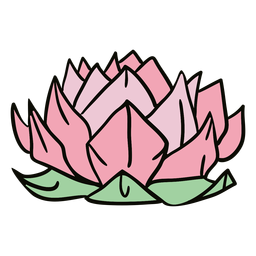 Origami lotus flower illustration