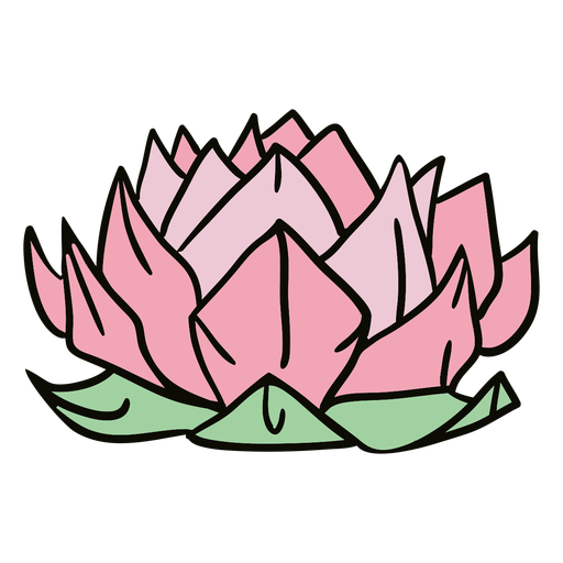 Origami lotus flower illustration Transparent PNG