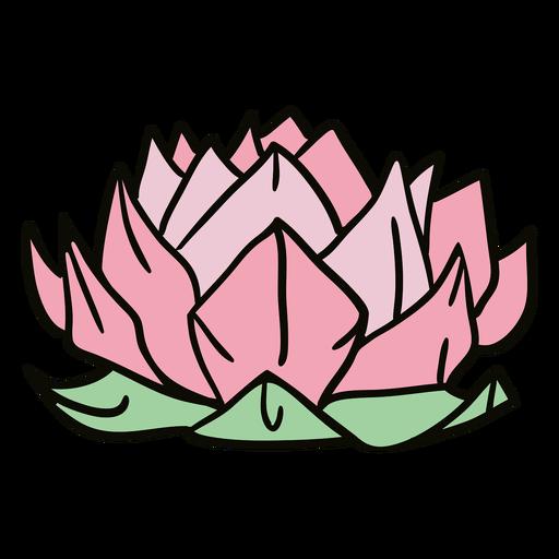 Origami lotus flower illustration