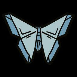 Ilustración de polilla de origami