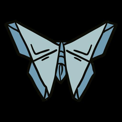 Origami moth illustration Transparent PNG