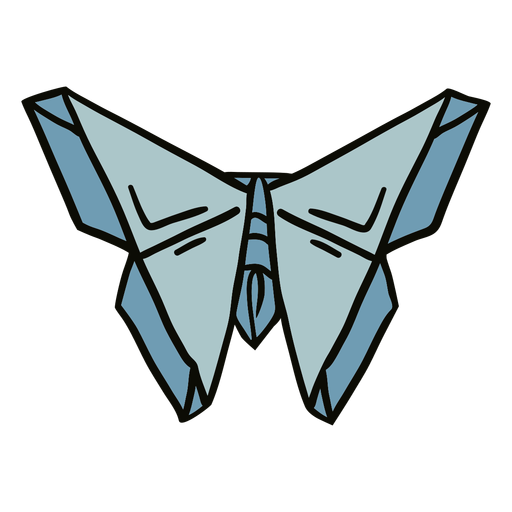 Origami moth illustration
