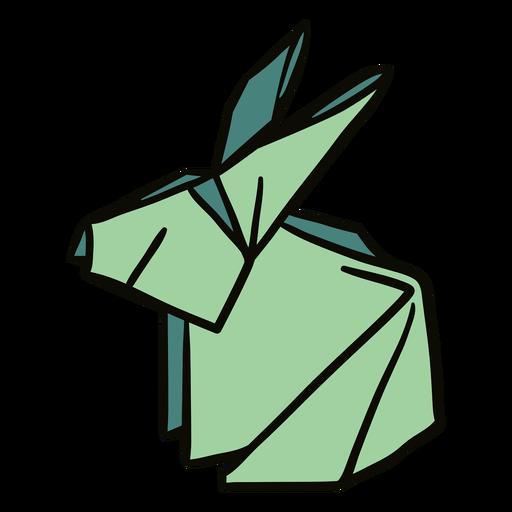 Ilustración de conejo de origami Transparent PNG