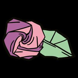 Ilustración de origami rosa
