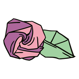 Origami rose illustration