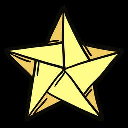 Ilustración de estrella de origami