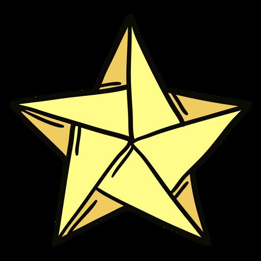 Ilustración de estrella de origami Transparent PNG