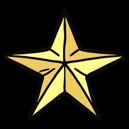 Origami starfish illustration