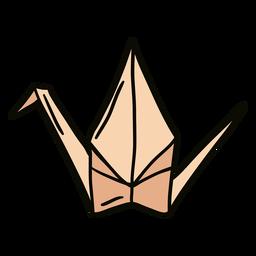 Ilustración de cisne de origami