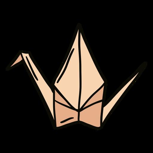 Ilustración de cisne de origami Transparent PNG