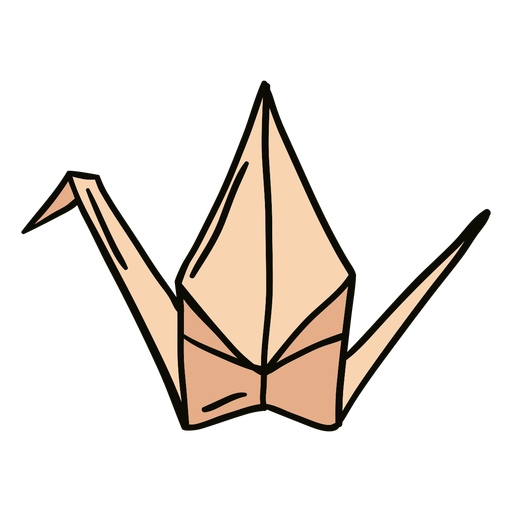 Origami swan illustration