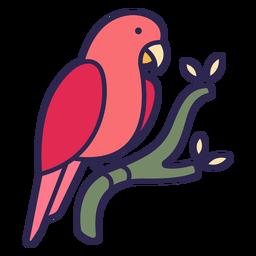 Pájaro loro plano