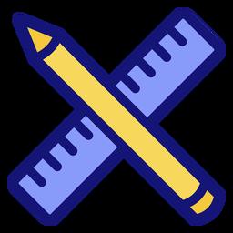 Icono de lápiz y regla