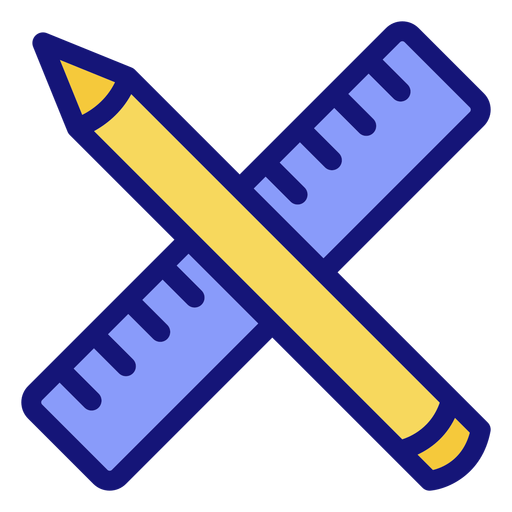Pencil and ruler icon Transparent PNG
