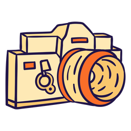 Pink camera illustration