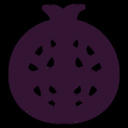 Granada fruta negra