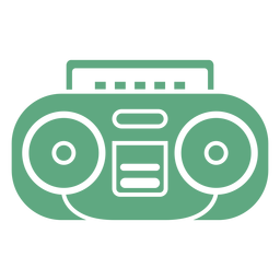 Cassete de rádio portátil plana verde