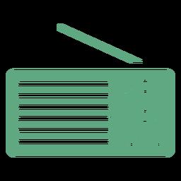Radio portátil plana verde