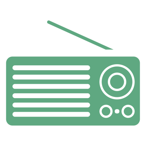 Portable radio flat green