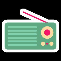 Autocolante plano de rádio portátil