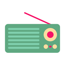Portable radio flat sticker