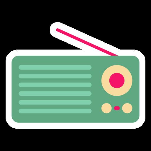 Portable radio flat sticker