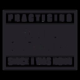Practicando la insignia de distanciamiento social