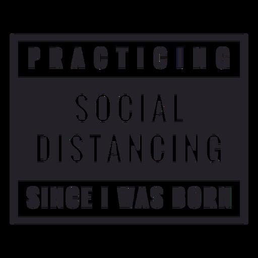 A praticar distanciamento social