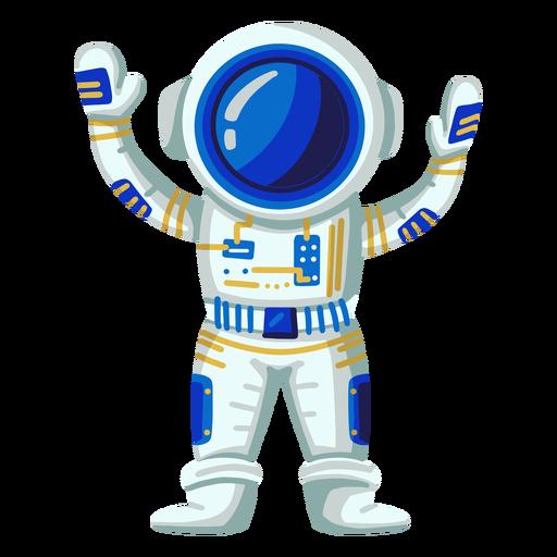 Ilustración de astronauta orgulloso