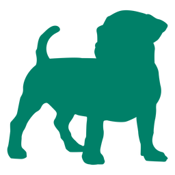 Puppy standing silhouette