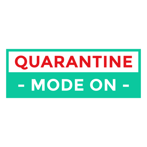 Quarantine mode on badge Transparent PNG
