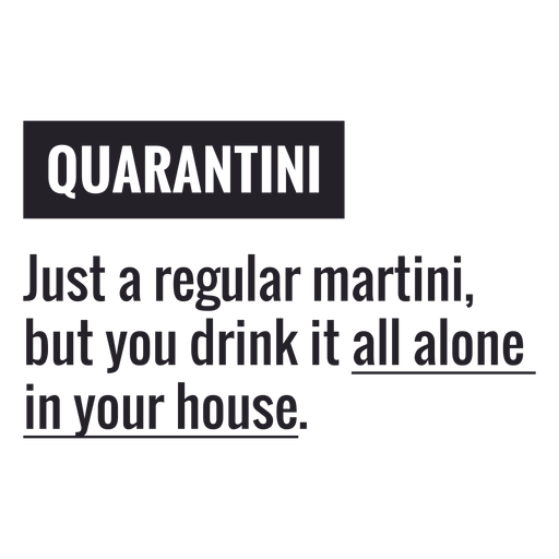 Letras de definición de Quarantini Transparent PNG