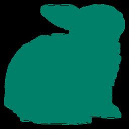 Rabbit sitting silhouette