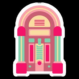 Retro Jukebox flacher Aufkleber