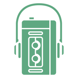 Walkman retro plano verde