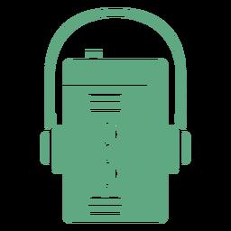 Walkman retro plano verde