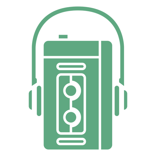Walkman retro plano verde Transparent PNG