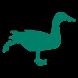 Running duck silhouette