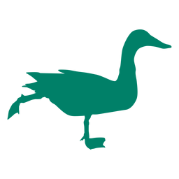 Silhueta de pato correndo