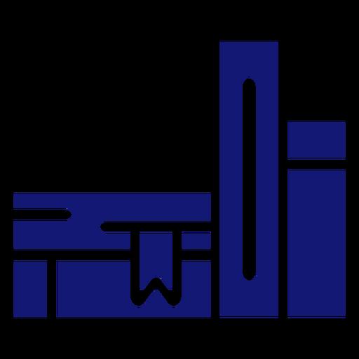 Icono de libros escolares azul