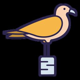Seagull bird flat