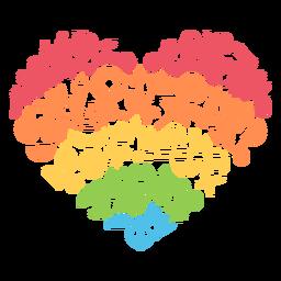 Coração colorido da estação
