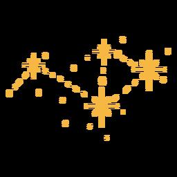 Estrellas brillantes planas