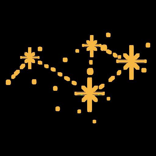 Estrellas brillantes planas Transparent PNG