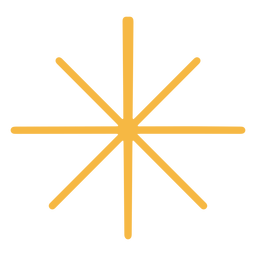Estrela simples plana