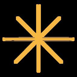 Estrella plana simple