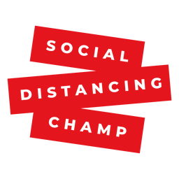 Insignia de campeón de distanciamiento social