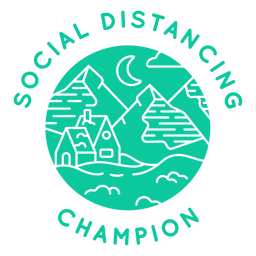 Social distancing champion badge